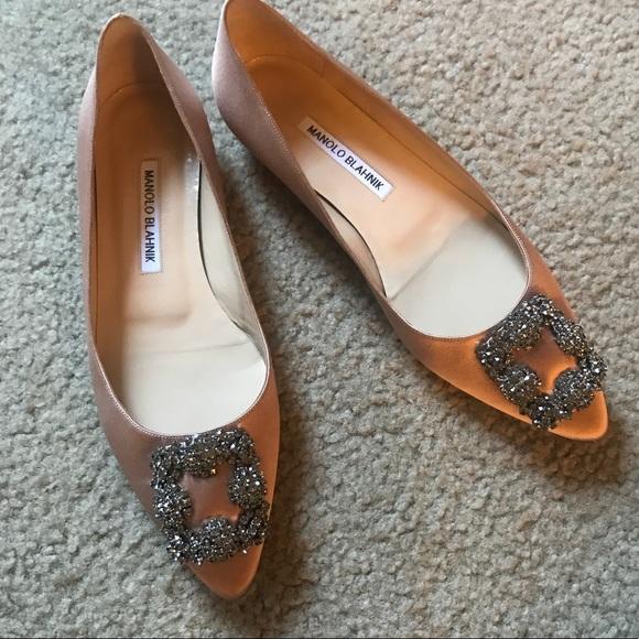 803c199a3c461 Manolo Blahnik Shoes | Hangisi Crystal Buckle Flats | Poshmark
